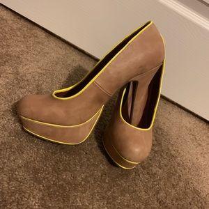 Tan/nude heels